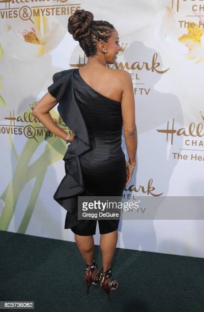 Holly Robinson Peete arrives at the 2017 Summer TCA Tour Hallmark Channel And Hallmark Movies And Mysteries at a private residence on July 27 2017 in...