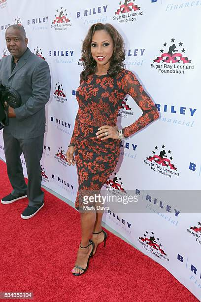 Holly Robinson Peete attends B Riley Co and Sugar Ray Leonard Foundation's 7th Annual Big Fighters Big Cause Charity Boxing Night at Dolby Theatre on...