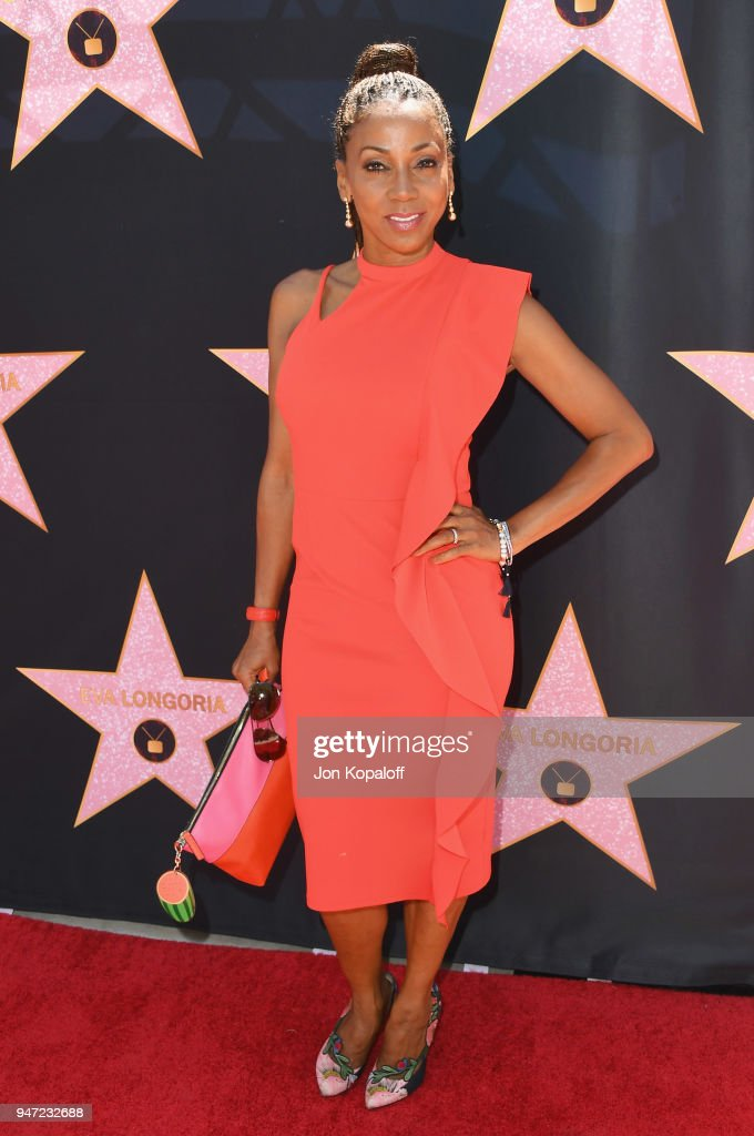 Holly Robinson Peete attends Eva Longoria's Hollywood Star Ceremony Post-Luncheon on April 16, 2018 in Beverly Hills, California.