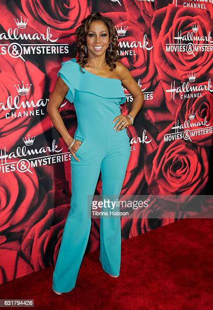 Holly Robinson Peete attends Hallmark Channel Movies and Mysteries Winter 2017 TCA Press Tour at The Tournament House on January 14 2017 in Pasadena...