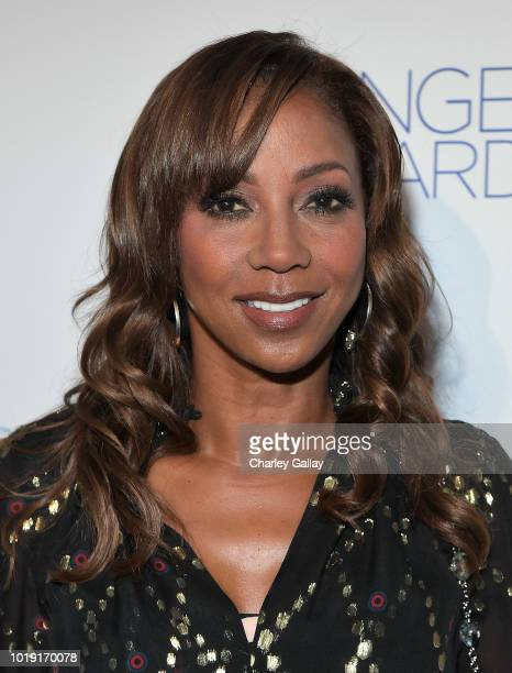 Holly Robinson Peete attends Project Angel Food's 2018 Angel Awards on August 18 2018 in Hollywood California