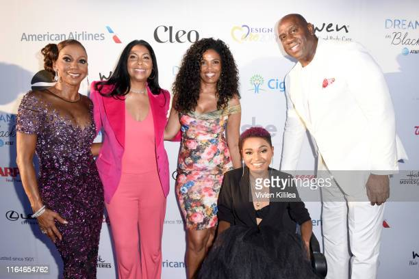 Holly Robinson Peete Cookie Johnson Areva Martin Lauren Lolo Spencer and Magic Johnson attend the HollyRod Foundation's 21st Annual DesignCare Gala...