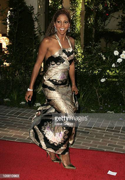Holly Robinson Peete during 6th Annual MercedesBenz DesignCure at Home of Sugar Ray and Bernadette Leonard in Pacific Palisades California United...