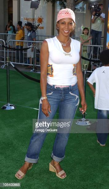 Holly Robinson Peete during 'Shrek 2' Los Angeles Premiere at Mann Village Theatre in Westwood California United States