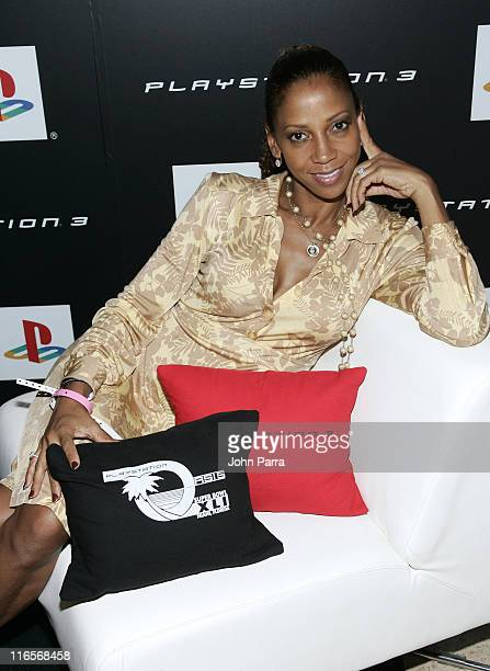 Holly Robinson Peete during Super Bowl XLI PlayStation Oasis Day 1 at Raleigh Hotel in Miami Beach Florida