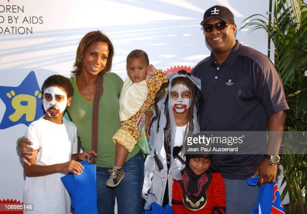 Holly Robinson Peete Rodney Peete and family during 13th Annual Dream Halloween Arrivals at Barker Hangar in Santa Monica California United States
