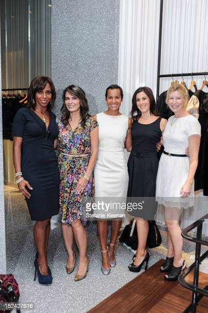 Holly Robinson Peete Trisha Cardoso Erica Reid Tracy Rappaport and Mary Kumble attend Valentino Beverly Hills Noir Launch With Erica Reid And One...
