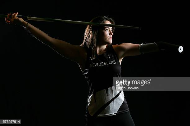 Holly Robinson poses during the 2016 New Zealand Paralympic Games team presentation at Sky City on July 19 2016 in Auckland New Zealand