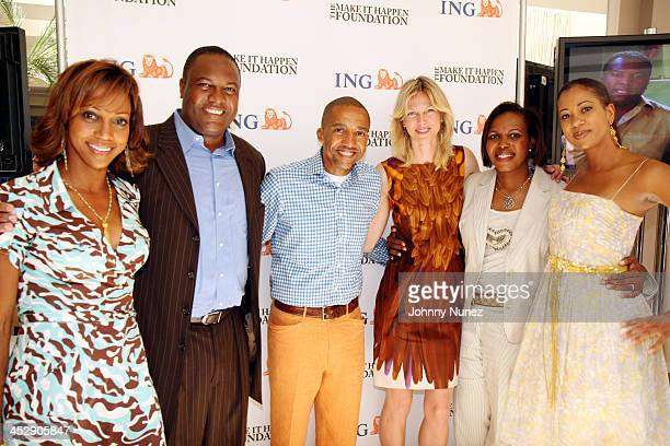 Holly Robinson Rodney Peete Kevin Liles Tamsin Smith Rhonda Mims and Sandye Lomax
