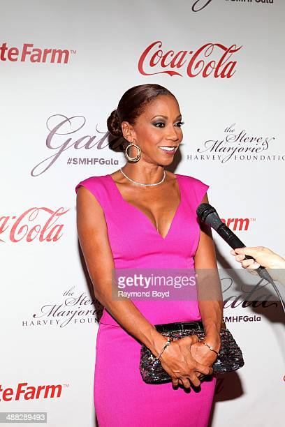 Holly RobinsonPeete is interviewed at the 2014 Steve and Marjorie Harvey Foundation Gala presented by CocaCola at the Hilton Chicago on May 3 2014 in...