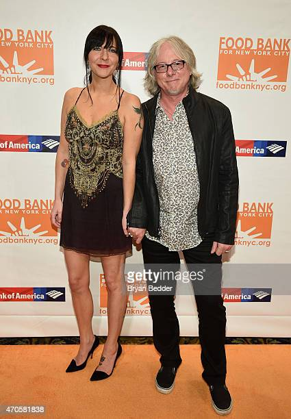 Holly Selph and Mike Mills of REM attend the Food Bank For New York City Can Do Awards Dinner Gala at Cipriani Wall Street on April 21 2015 in New...