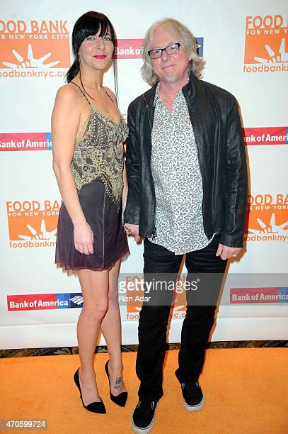 Holly Selph and Mike Mills of REM attend the Food Bank For New York City's 2015 Can Do Awards Dinner Gala at Cipriani Wall Street on April 21 2015 in...