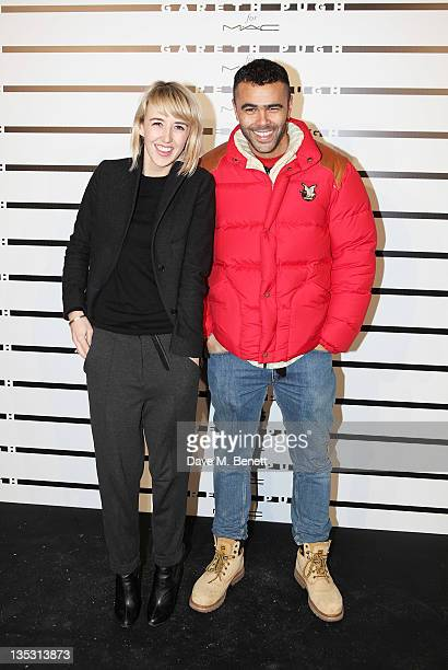 Holly Shackleton and Elgar Johnson arrive at the launch of the Gareth Pugh For MAC Collection at Ambika P3 on December 8 2011 in London England