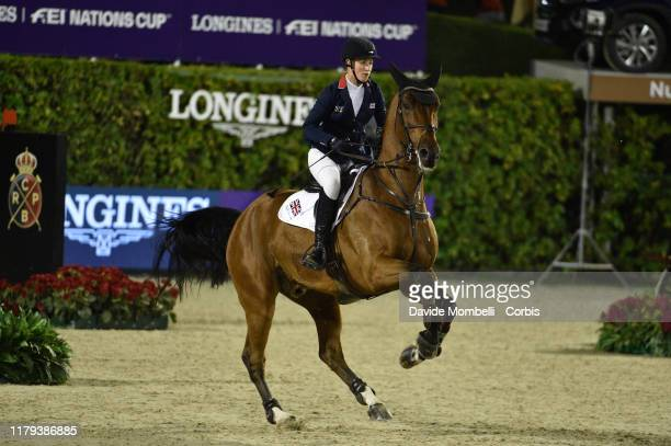 Holly Smith riding Hearts Destiny of Great Britain during Longines FEI Jumping Nations Cup Final Challenge Cup on October 5 2019 in Barcelona Spain
