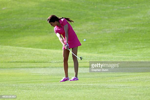 Holly Sonders hits from the fairway on the second hole during the third round of the Humana Challenge in partnership with the Clinton Foundation on...