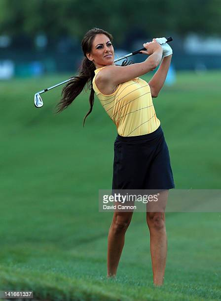 Holly Sonders of the Golf Channel during the proam as a preview for the 2012 Arnold Palmer Invitational presented by MasterCard at Bay Hill Club and...