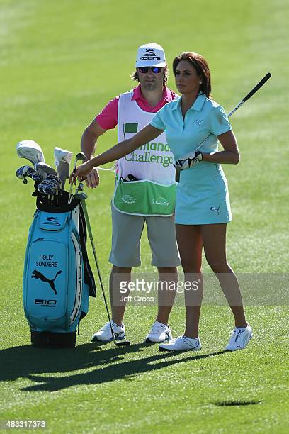 Holly Sonders plays the eighth hole on the Jack Nicklaus Private Course at PGA West during the second round of the Humana Challenge in partnership...