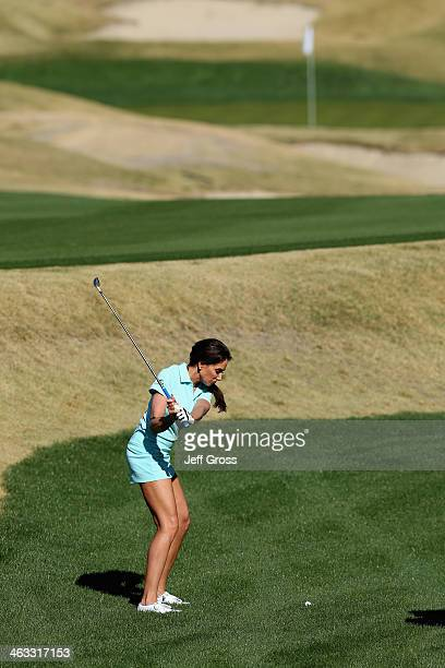 Holly Sonders plays the ninth hole on the Jack Nicklaus Private Course at PGA West during the second round of the Humana Challenge in partnership...