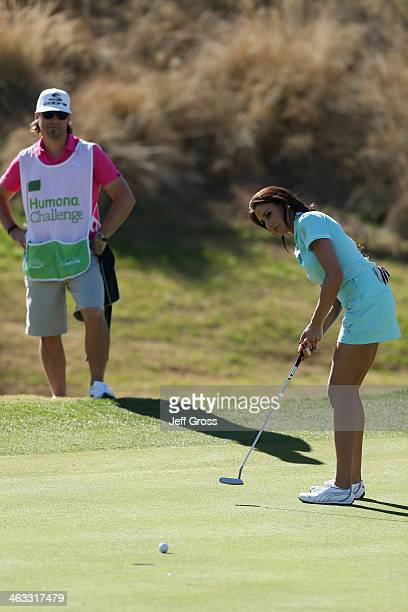 Holly Sonders putts on the seventh hole of the Jack Nicklaus Private Course at PGA West during the second round of the Humana Challenge in...