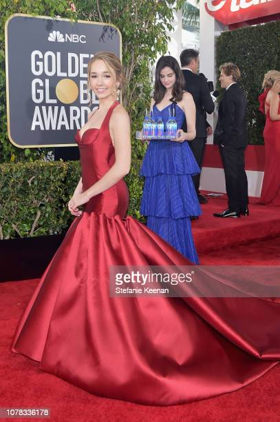Holly Taylor attends FIJI Water at the 76th Annual Golden Globe Awards on January 6 2019 at the Beverly Hilton in Los Angeles California Photo by...
