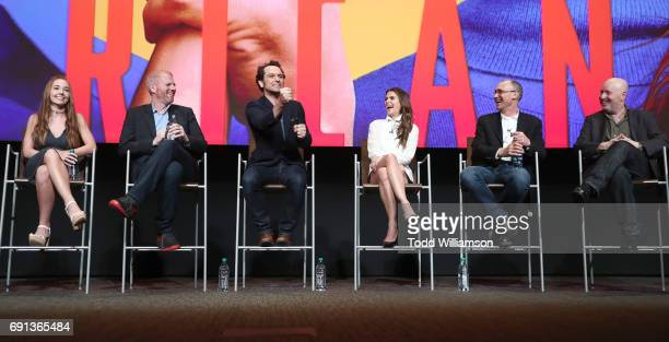 Holly Taylor Noah Emmerich Matthew Rhys Keri Russell Producer Joel Fields and P{roducer Joe Weisberg attend FX's 'The Americans' For Your...