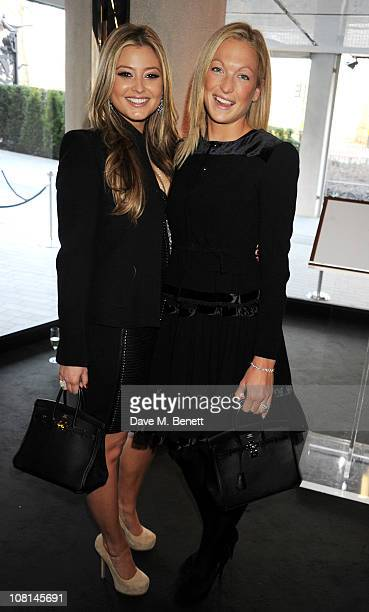 Holly Valance and Emily Crompton attend the launch of One Hyde Park The Residences at Mandarin Oriental London on January 19 2011 in London England