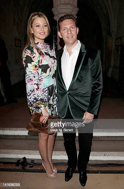 Holly Valance and Nick Candy attend The Faberge Big Egg Hunt Grand Auction at the Royal Courts of Justice Strand on March 20 2012 in London England