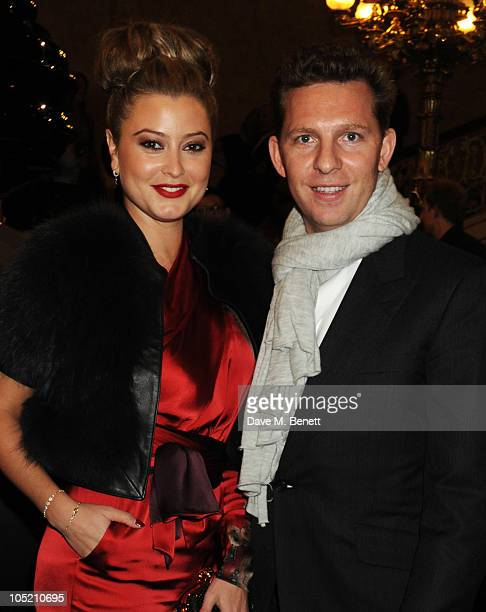 Holly Valance and Nick Candy attend the global launch of Vertu Constellation Quest at Lancaster House on October 12, 2010 in London, England.