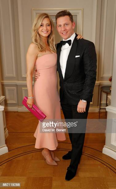 Holly Valance and Nick Candy attend the mothers2mothers Winter Fundraiser hosted by Salma Hayek Pinault and FrancoisHenri Pinault The dinner is in...
