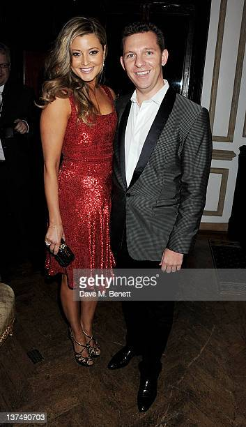 Holly Valance and Nick Candy attends Candy Candy CEO Nick Candy's 39th birthday party in association with Ciroc Vodka at No 5 Cavendish Square on...