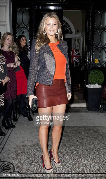 Holly Valance Attending The Faberge Egg Hunt Champagne Countdown Party London Britain
