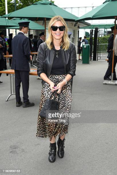 Holly Valance attends day eight of the Wimbledon Tennis Championships at All England Lawn Tennis and Croquet Club on July 09 2019 in London England