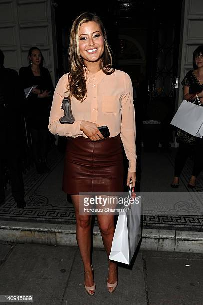 Holly Valance attends event to toast its new Eight Hour Cream on March 8 2012 in London United Kingdom