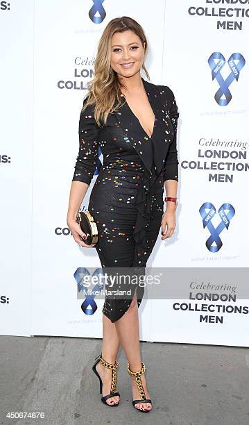 Holly Valance attends One For The Boys Fashion Ball hosted by Samuel L Jackson which is uniting men against cancer as part of London Collections Men...