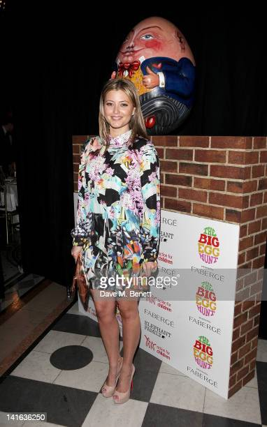 Holly Valance attends The Faberge Big Egg Hunt Grand Auction at the Royal Courts of Justice Strand on March 20 2012 in London England