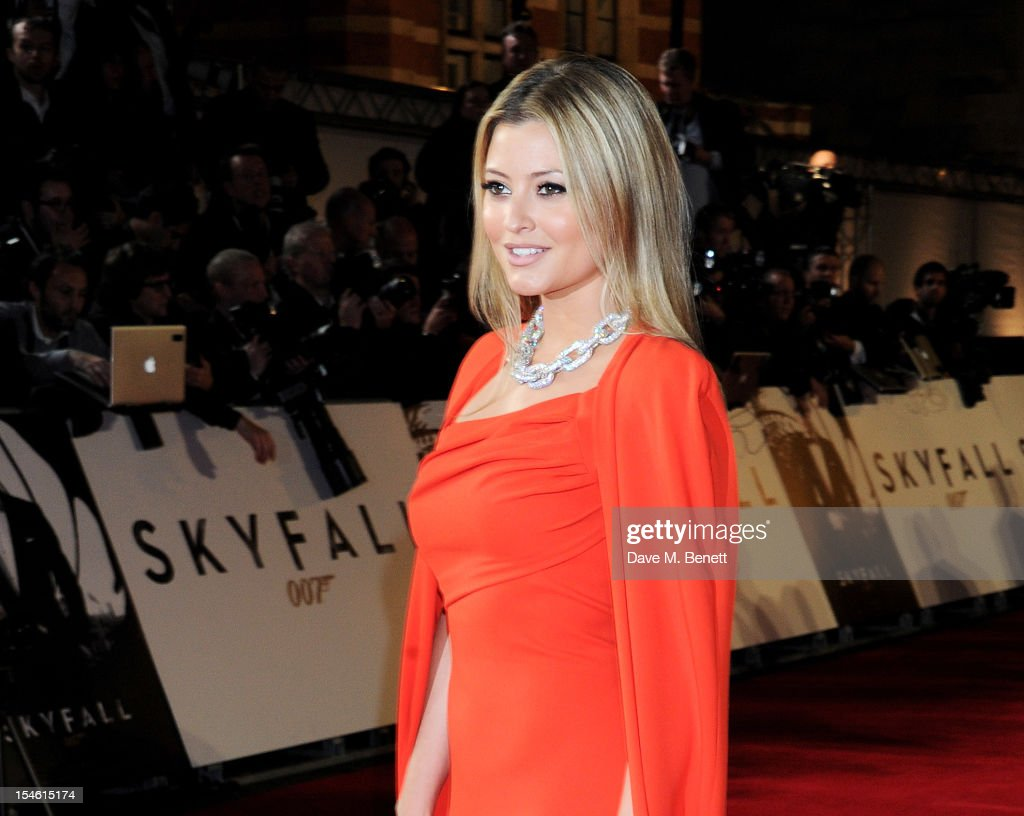 Holly Valance attends the Royal World Premiere of 'Skyfall' at the Royal Albert Hall on October 23, 2012 in London, England.