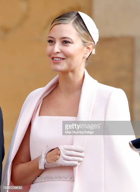 Holly Valance attends the wedding of Princess Eugenie of York and Jack Brooksbank at St George's Chapel on October 12 2018 in Windsor England