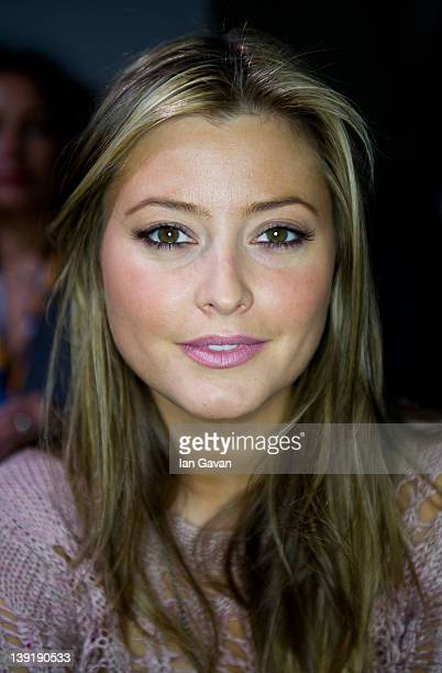 Holly Valance attends the Zoe Jordan show at London Fashion Week Autumn/Winter 2012 at Somerset House on February 17 2012 in London England