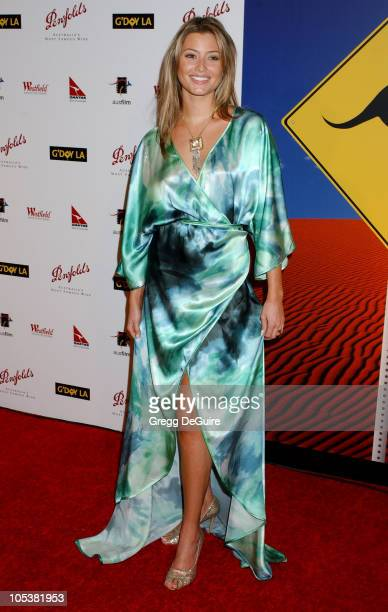 Holly Valance during 2nd Annual Penfolds Gala Black Tie Dinner Arrivals at Century Plaza Hotel in Century City California United States