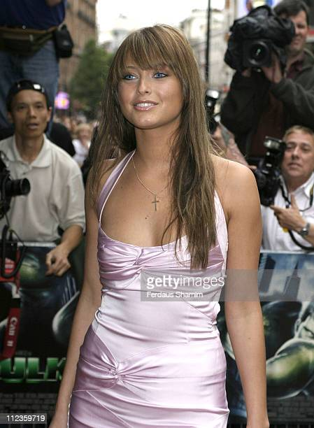 Holly Valance during 'The Hulk' Premiere in London at Empire Theatre Leicester Square in London United Kingdom