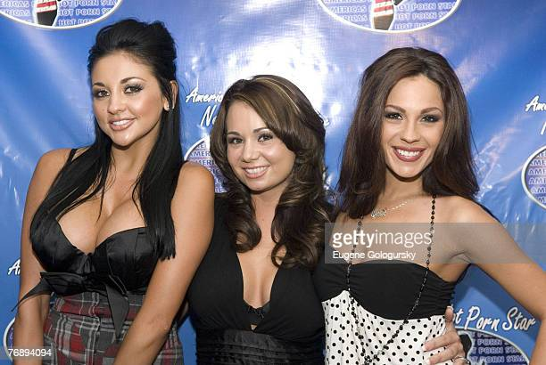 "Holly West, Audrey Bitoni, and Kirsten Price at ""America's Next Hot Porn Star"" New York City Press Conference"