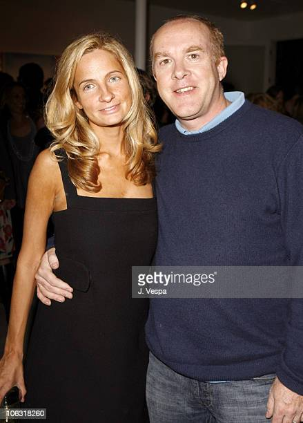 """Holly Wiersma and Cassian Elwes during Damian Elwes """"Inside Picasso's Studio"""" Art Exhibition at M+B in West Hollywood, California, United States."""