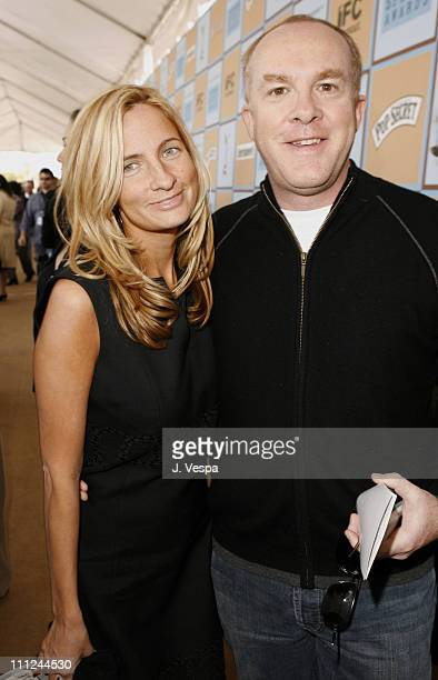 Holly Wiersma and Cassian Elwes during Film Independent's 2006 Independent Spirit Awards - Red Carpet in Santa Monica, California, United States.