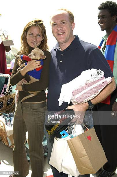 Holly Wiersma and Cassian Elwes during The Cabana Beauty Buffet - Day 1 at The Chateau Marmont Hotel in Los Angeles, California, United States.