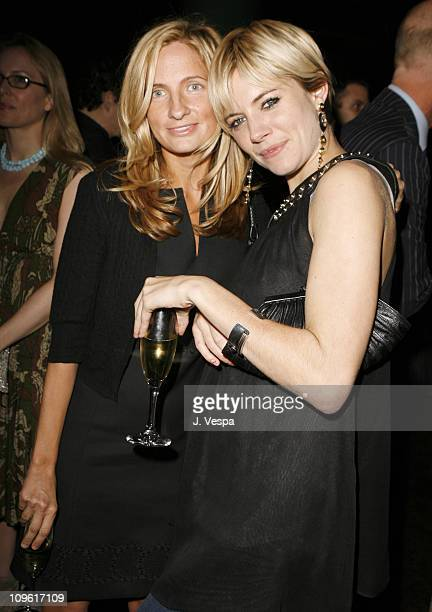 Holly Wiersma and Sienna Miller during 2006 Weinstein Company Pre-Oscar Party - Red Carpet and Inside at Pacific Design Center in Los Angeles,...