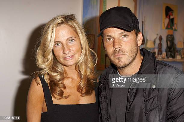 """Holly Wiersma and Stephen Dorff during Damian Elwes """"Inside Picasso's Studio"""" Art Exhibition at M+B in West Hollywood, California, United States."""