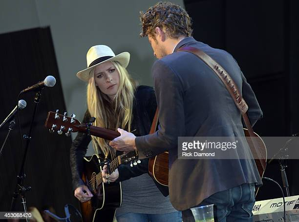 Holly Williams and Anderson East Perform At The Country Music Hall Of Fame And Museum's Hot Nights At The Hall Presented By Xfinity on August 1 2014...