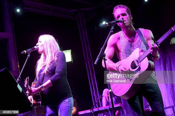 Holly Williams and Chris Coleman perform onstage at the Music City Food Wine Festival Harvest Night Presented By Infiniti on September 20 2014 in...
