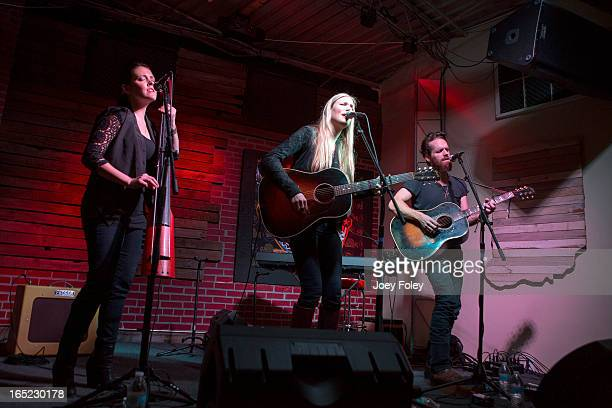 Holly Williams and Chris Coleman performs in concert at Do317 Lounge on March 29 2013 in Indianapolis Indiana