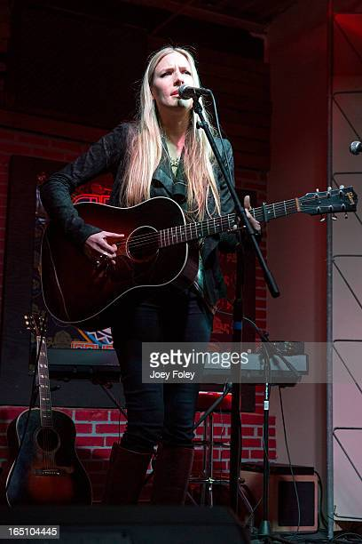 Holly Williams performs in concert at Do317 Lounge on March 29 2013 in Indianapolis Indiana